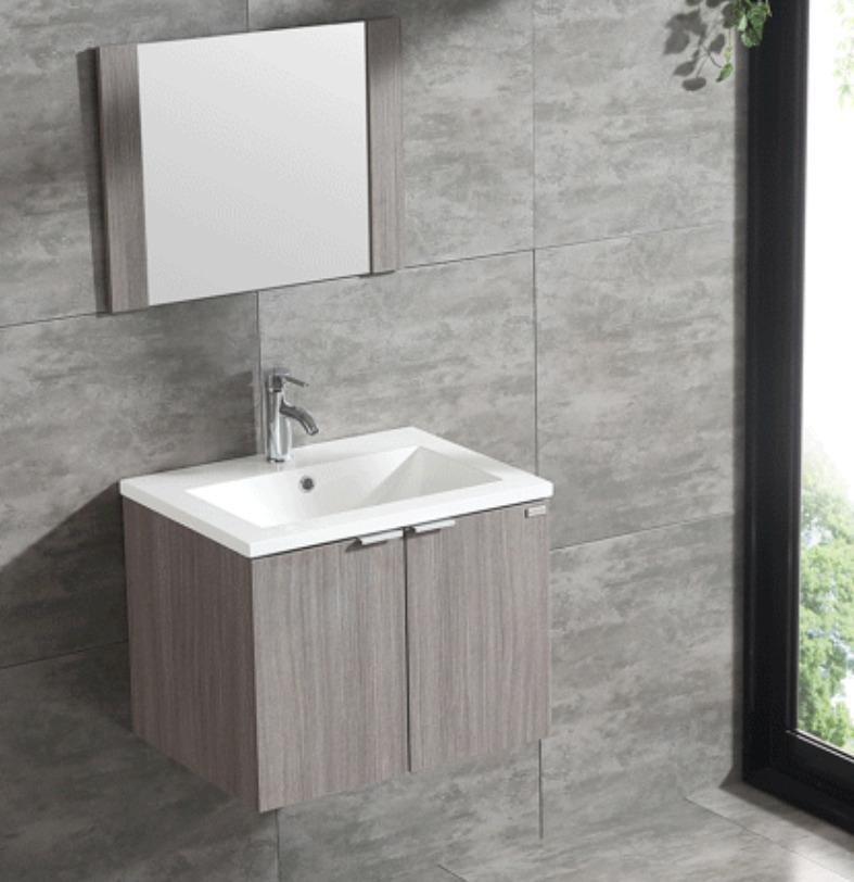 Wall Mount Bathroom Vanity Single Wood Cabinet