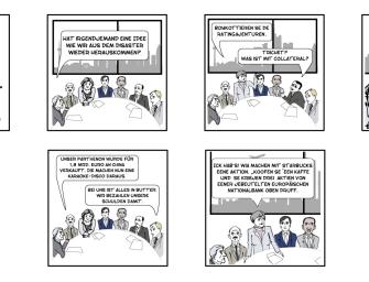 Laokoon & Kassandra in Finanzkatastrophensitzung
