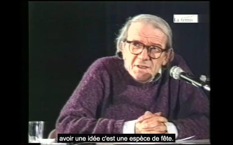 « Qu'est-ce que l'acte de création ? », Gilles Deleuze