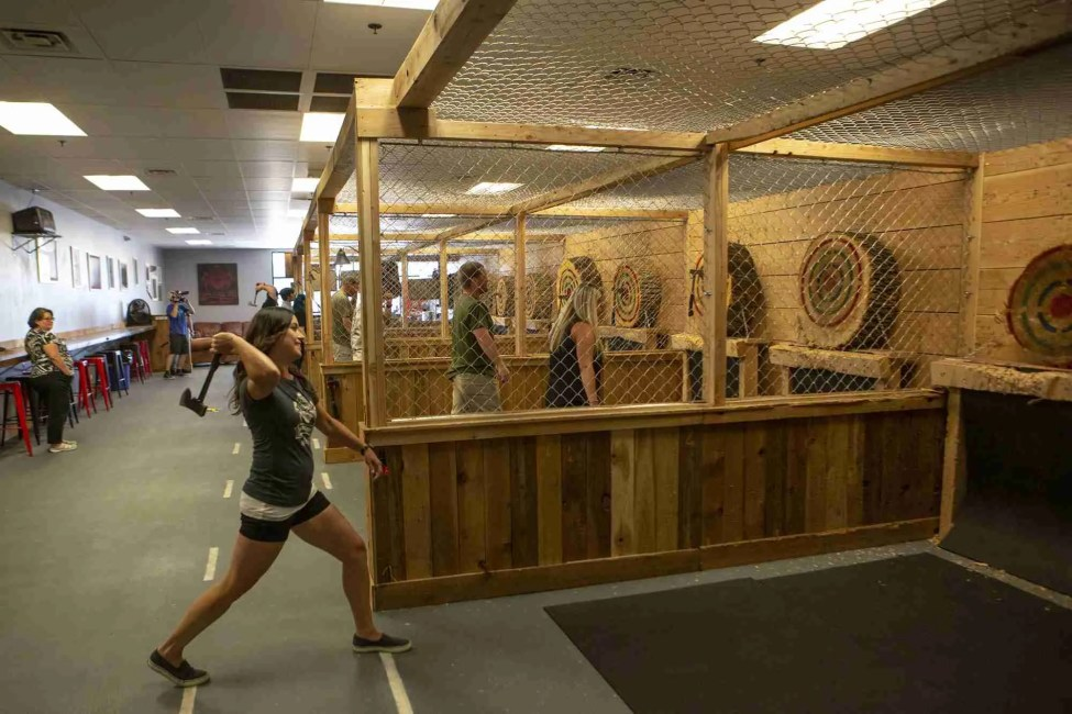 Things to Do Axe Throwing Team Building Boise Nampa Caldwell Meridian Section 37 Precision