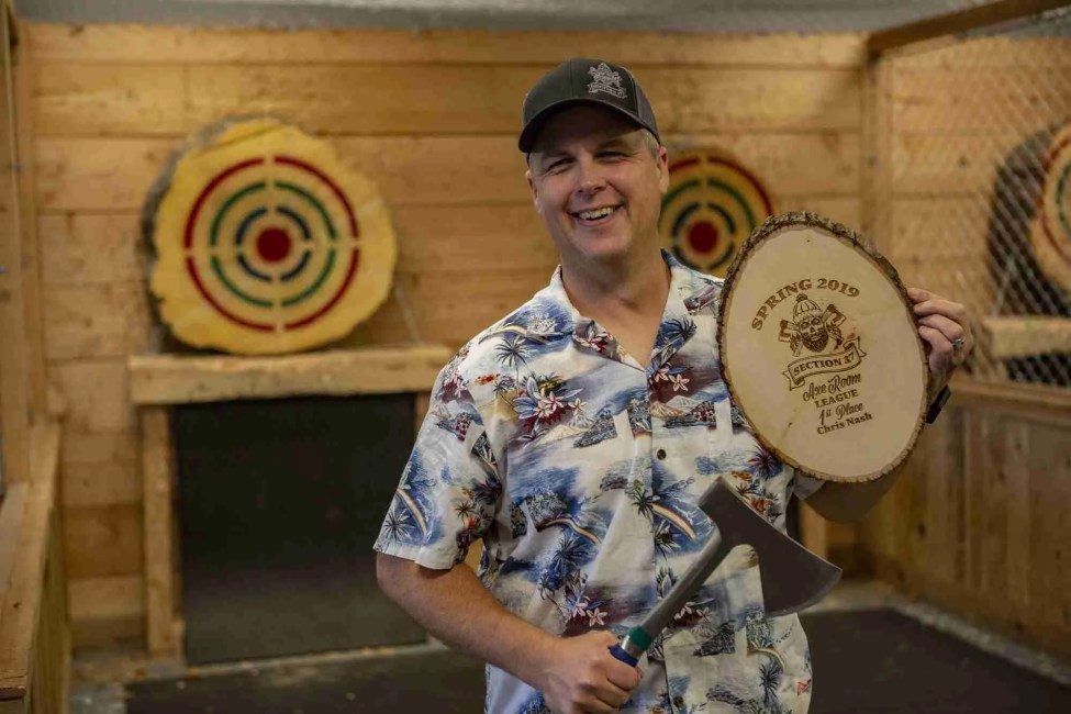 Things to Do Axe Throwing Team Building Boise Nampa Caldwell Meridian Section 37 Precision Leagues