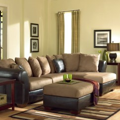 Ashley Furniture Sectional Sofa Reviews Designer Leather Sofas Duraplush Mocha Chaise By Signature Design