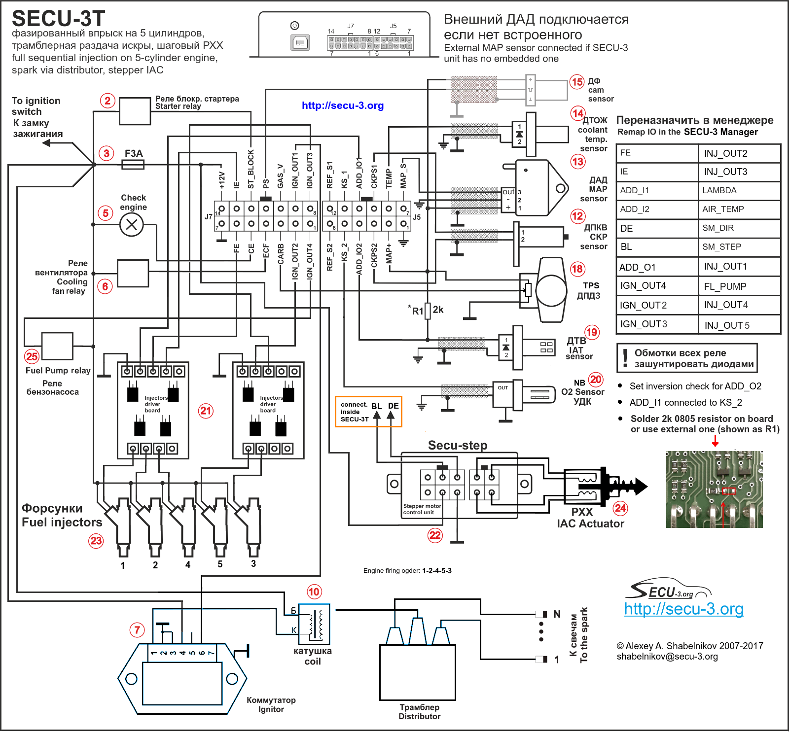 Wiring Diagrams For Secu 3 Units Examples