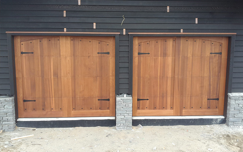 Custom Cedar Garage Door