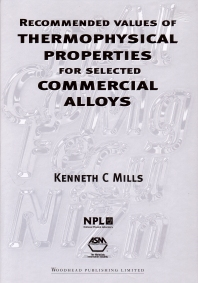 Recommended Values of Thermophysical Properties for