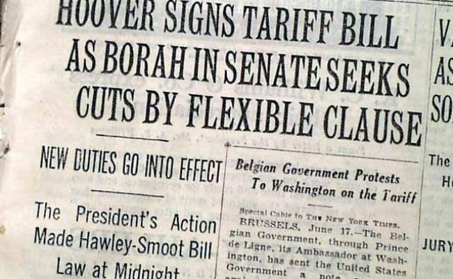 Smoot Hawley Tariff Act Rarenewspapers