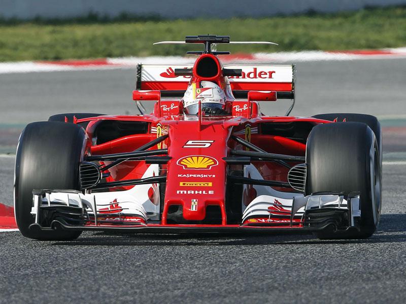 Ferrari Pilot Vettel Erffnet Mit Bestzeit Formel 1 Kicker