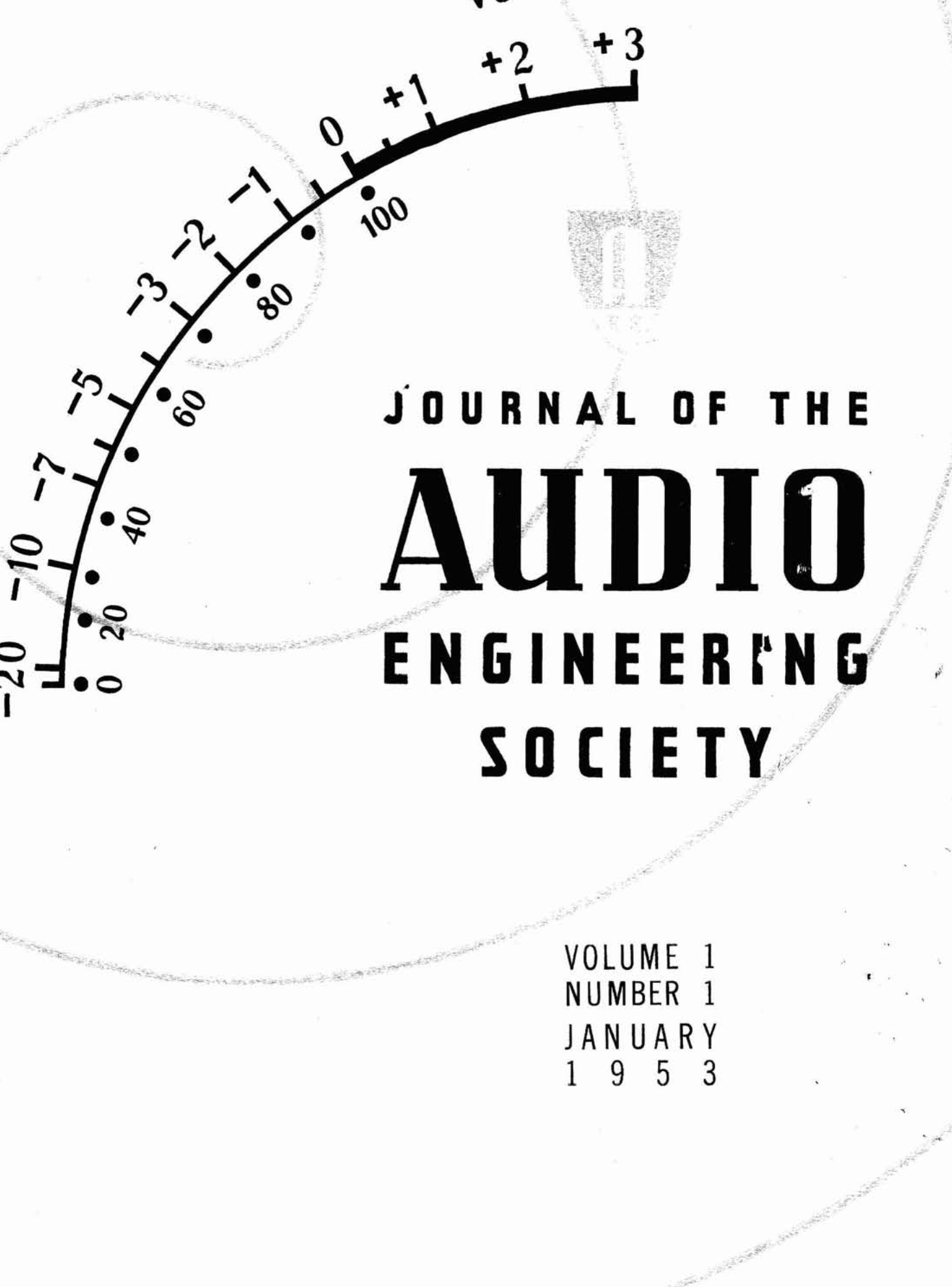 Aes E Library Complete Journal Volume 1 Issue 1