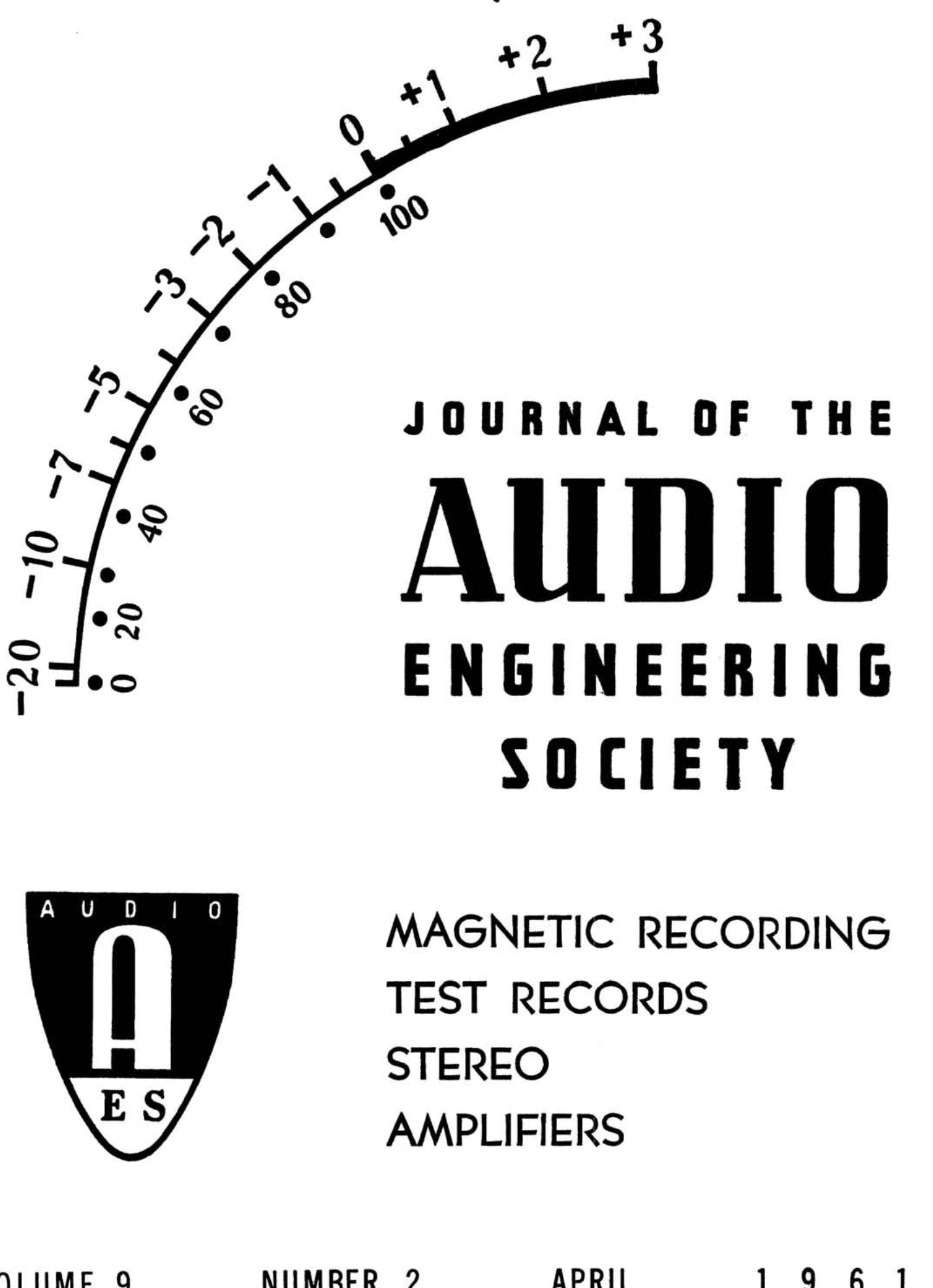 Aes E Library Complete Journal Volume 9 Issue 2
