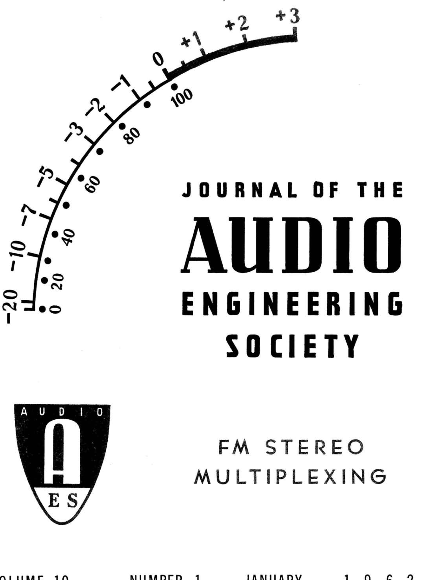AES E-Library » Complete Journal: Volume 10 Issue 3