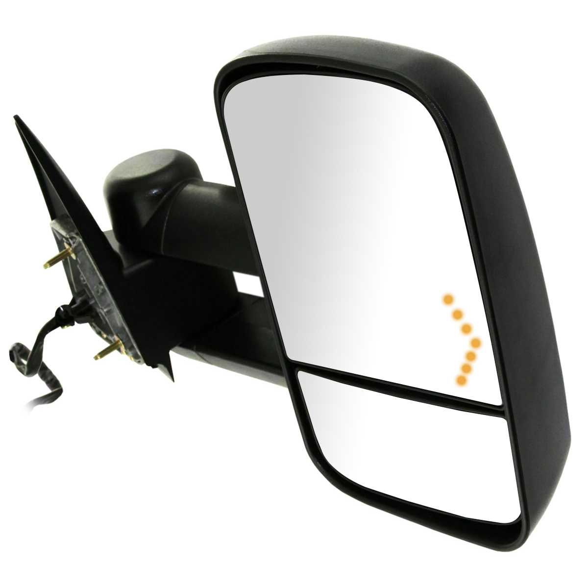 Passenger Side Power Heated Towing Signal Mirror Fits