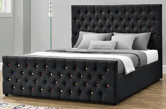 spectrum ottoman storage bed black