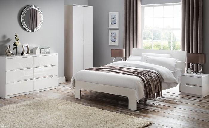 high gloss white bedroom furniture