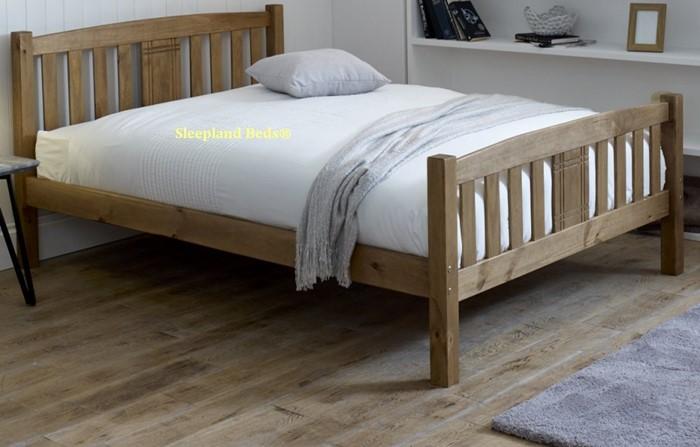 honey pine palma wooden bed kingsize