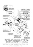 KTM LC8 990 ADVENTURE,R LEOVINCE LV ONE EVO SLIP ON EXHAUSTS