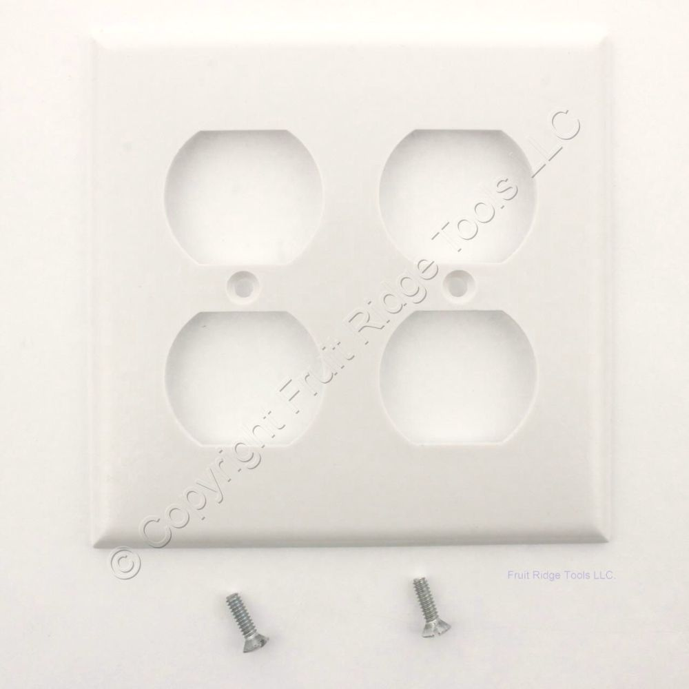 medium resolution of white duplex receptacle thermoset wallplate outlet standard size 2 gang cover