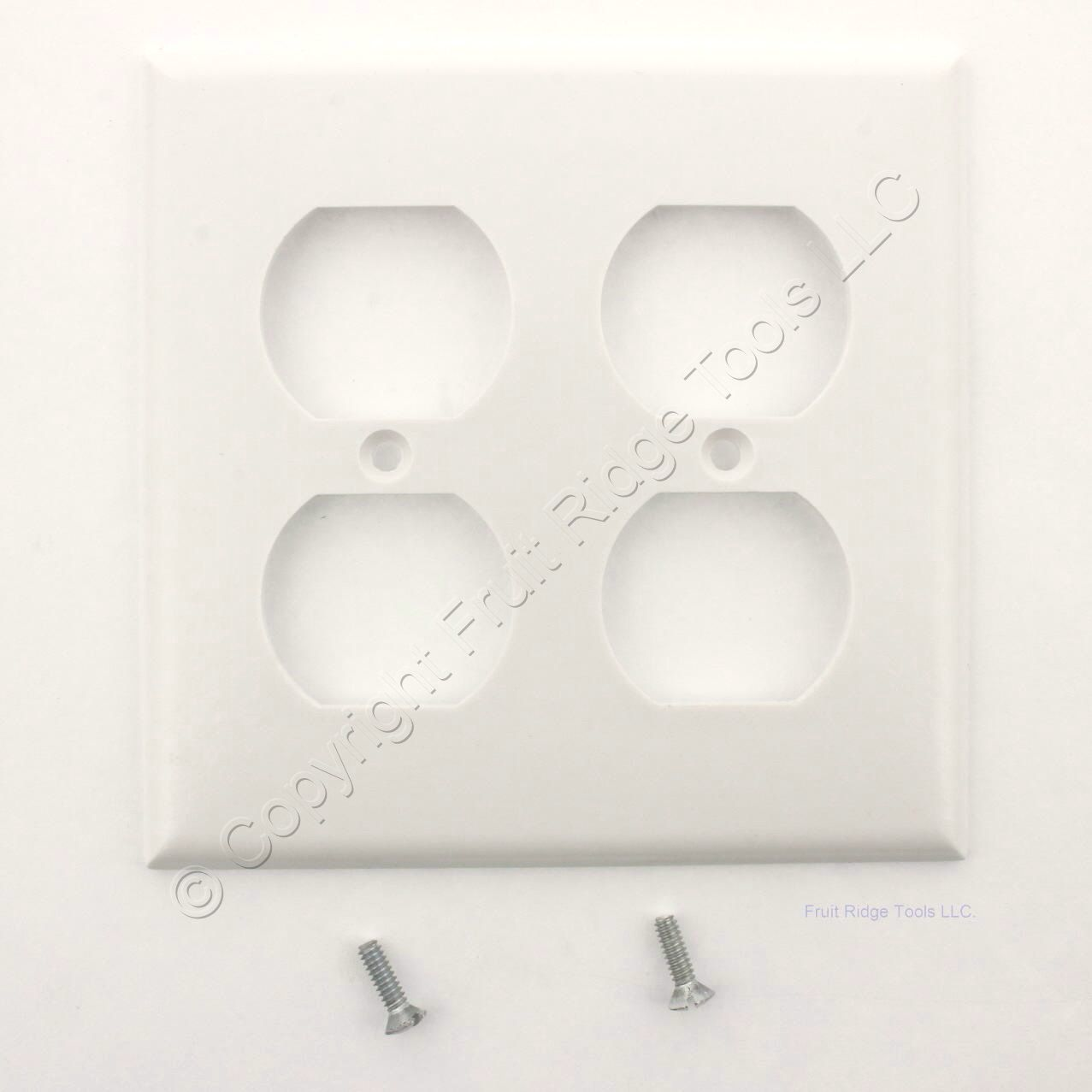 hight resolution of white duplex receptacle thermoset wallplate outlet standard size 2 gang cover