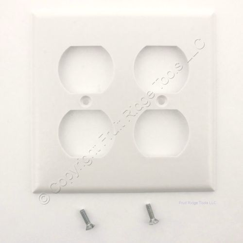 small resolution of white duplex receptacle thermoset wallplate outlet standard size 2 gang cover