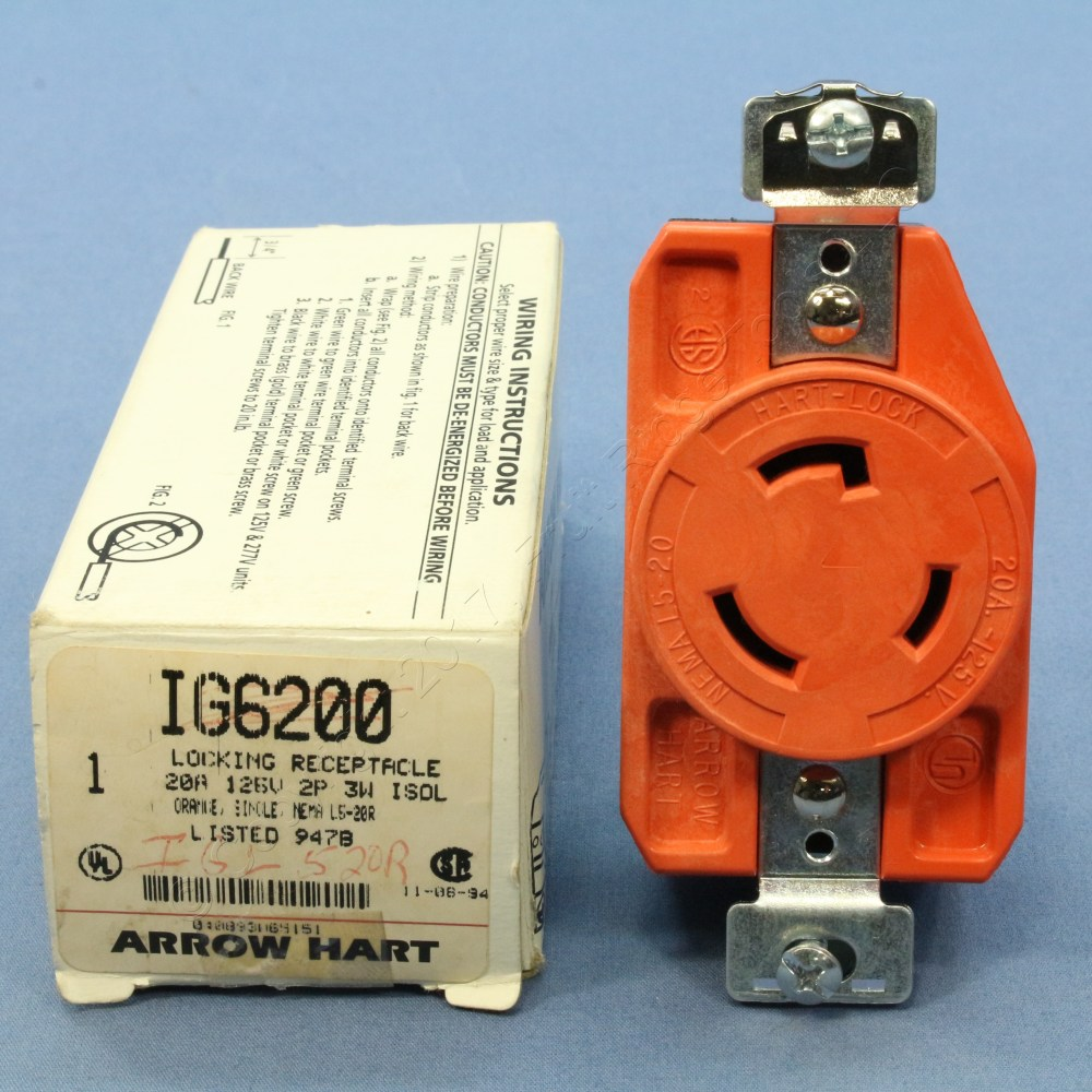 medium resolution of new isolated ground locking outlet twist turn receptacle 20a arrow hart ig6200