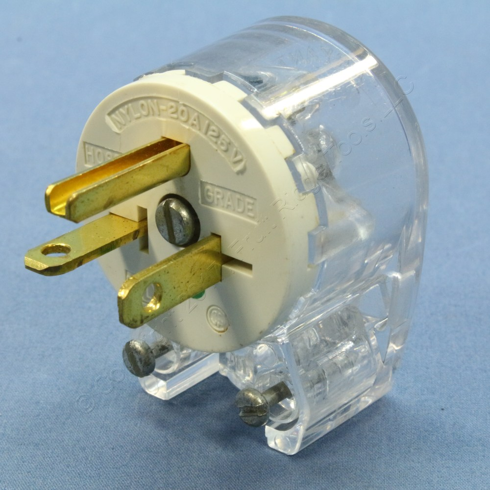 medium resolution of bryant clear straight blade angle connector plug 12 position 5 20p cooper wiring angle extension cord replacement plug ebay