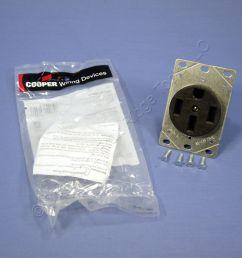 cooper flush range receptacle oven stove outlet 50a 125 250v 14 50r 1258 bagged [ 1504 x 1504 Pixel ]
