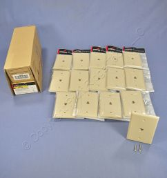 15 cooper ivory mid size flush mount 4 wire telephone jack wallplates 3533 4v [ 1504 x 1504 Pixel ]