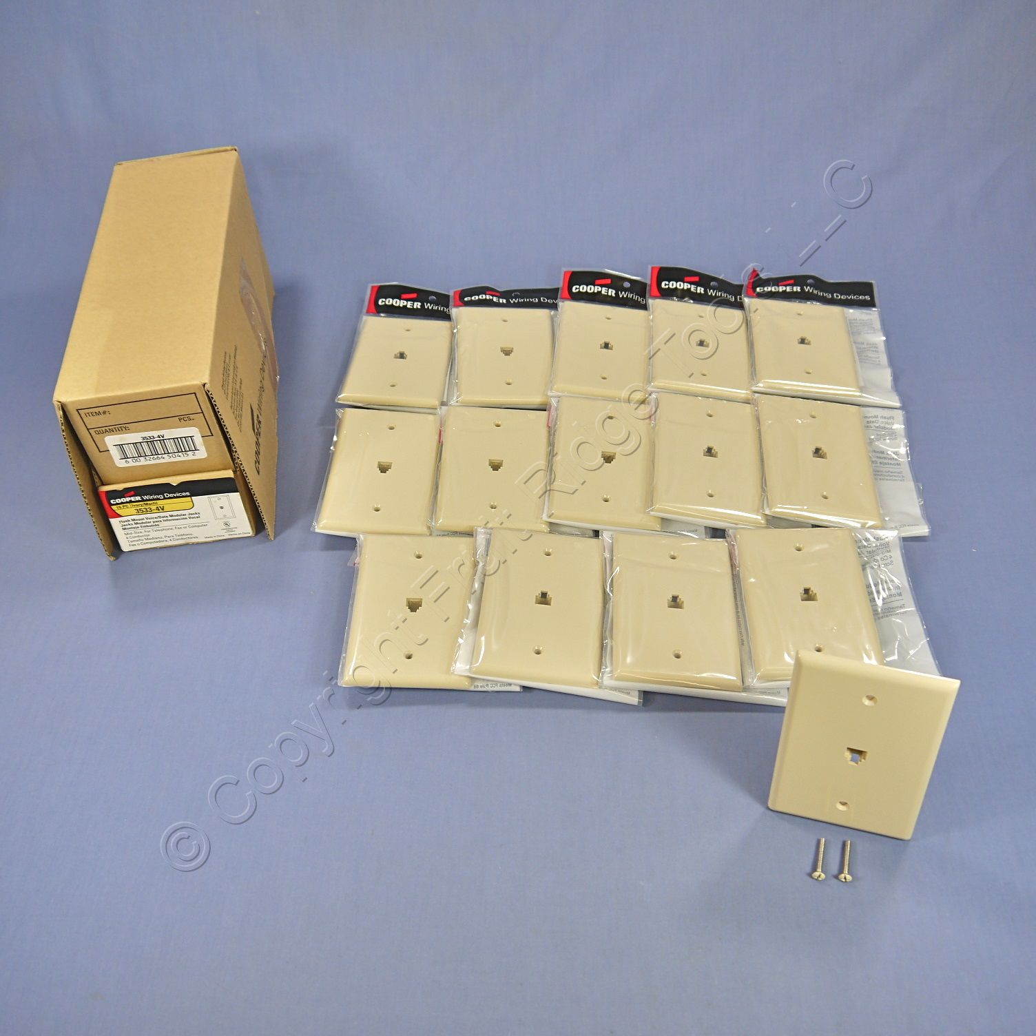 hight resolution of 15 cooper ivory mid size flush mount 4 wire telephone jack wallplates 3533 4v