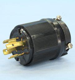 cooper wiring devices black locking plug 20a 125 250v 3 pole 4 wire cwl1420bk bu [ 3456 x 3456 Pixel ]