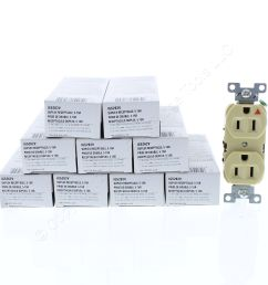 shop 10 cooper ivory industrial duplex isolated ground receptacles 5 15r 15a 125v 2 pole 3 wire back side wired ig5262v fruit ridge tools [ 3456 x 3456 Pixel ]