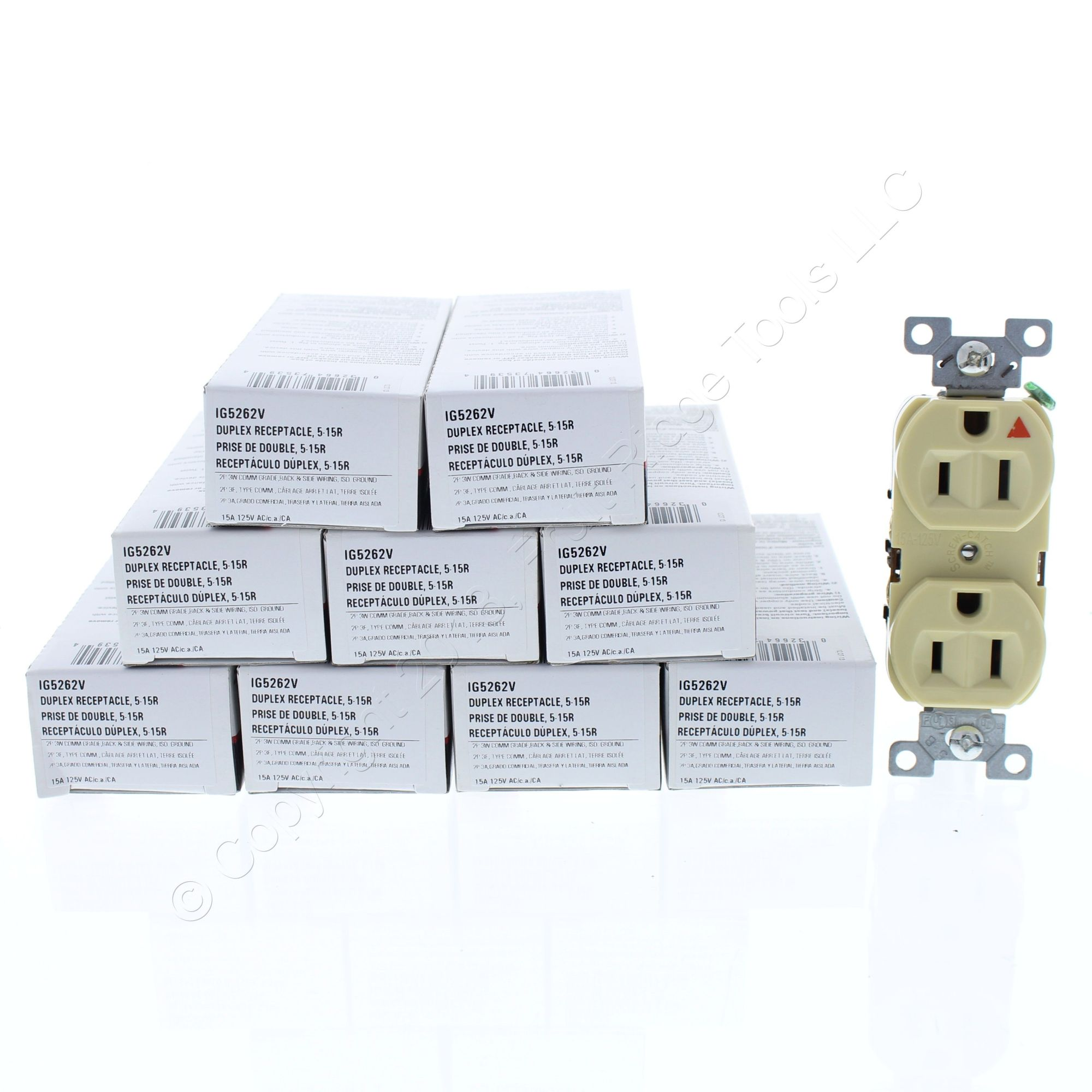 hight resolution of  shop 10 cooper ivory industrial duplex isolated ground receptacles 5 15r 15a 125v 2 pole 3 wire back side wired ig5262v fruit ridge tools