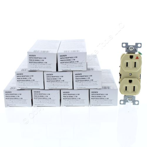 small resolution of  shop 10 cooper ivory industrial duplex isolated ground receptacles 5 15r 15a 125v 2 pole 3 wire back side wired ig5262v fruit ridge tools