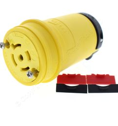 cooper yellow locking connector l22 20r back wire 20a 277 480v 3ph 4p5w l2220cy [ 3456 x 3456 Pixel ]