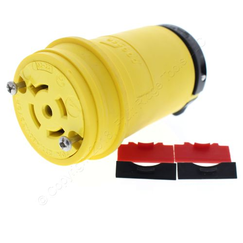 small resolution of cooper yellow locking connector l22 20r back wire 20a 277 480v 3ph 4p5w l2220cy