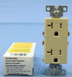 cooper ivory tamper resistant duplex receptacle outlet nema 5 20r 20a tr1307v [ 3456 x 3456 Pixel ]