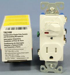 cooper white tamper resistant toggle light switch outlet receptacle 15a tr274w [ 1280 x 1280 Pixel ]