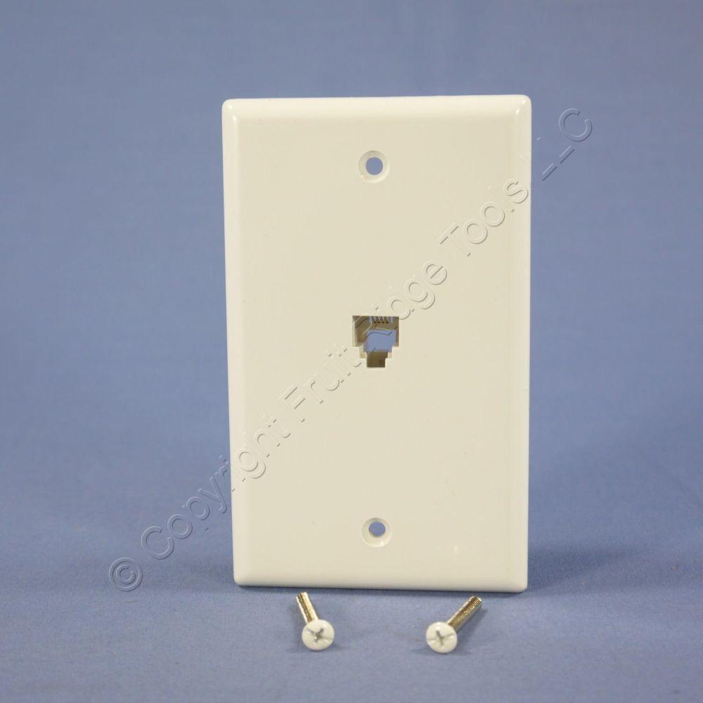 medium resolution of eagle white flush mount phone jack wall plate 4 conductor telephone rj11 3532 4w