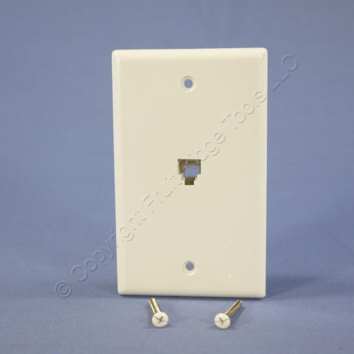 small resolution of eagle white flush mount phone jack wall plate 4 conductor telephone rj11 3532 4w