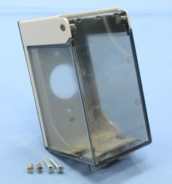 eagle clear 1 gang weather protective outdoor outlet receptacle cover 4961 sp [ 3456 x 3456 Pixel ]