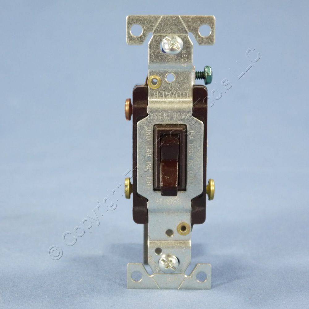 medium resolution of eagle brown 3 way toggle wall light switch co alr aluminum wiring 15a 5223 7b