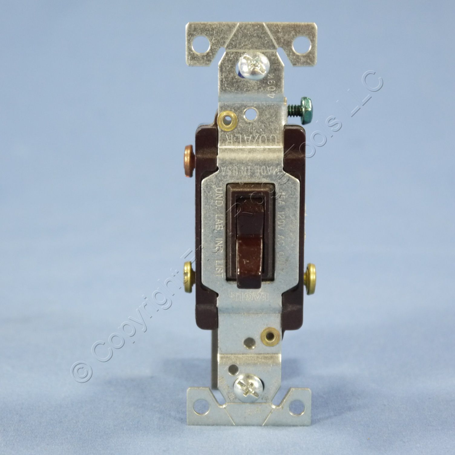hight resolution of eagle brown 3 way toggle wall light switch co alr aluminum wiring 15a 5223 7b