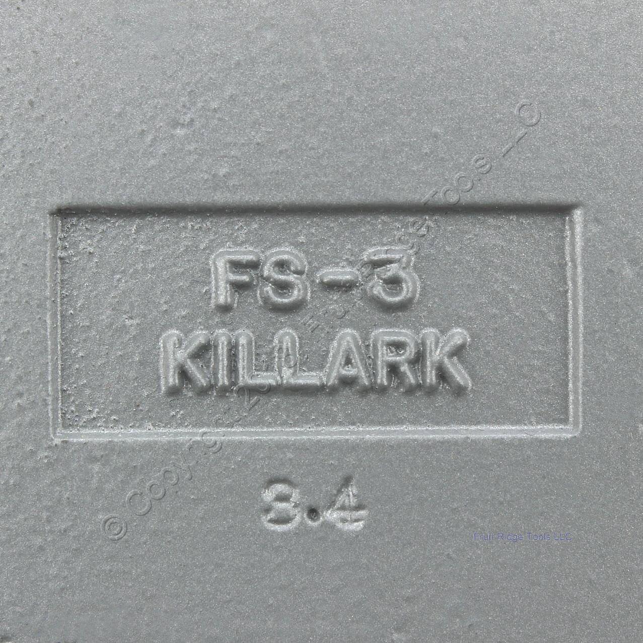 Killark 1 Aluminum Shallow 1 Gang Cast Device Box Tapered