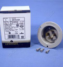 leviton gray l14 20p locking flanged inlet turn twist plug 20a 125 250v 2415 gy [ 1504 x 1504 Pixel ]