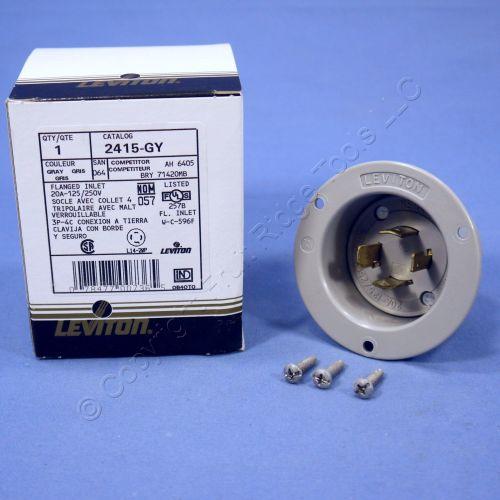 small resolution of leviton gray l14 20p locking flanged inlet turn twist plug 20a 125 250v 2415 gy