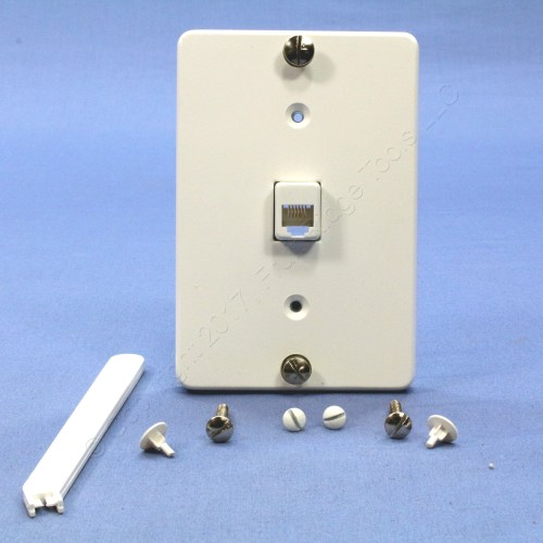 small resolution of image is loading leviton white quickconnect wall mount type 630a telephone