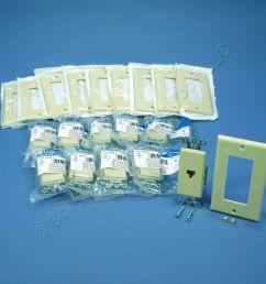 shop 10 leviton ivory decora 8 wire phone jacks telephone modular outlet wall plate 40680 i fruit ridge tools [ 1504 x 1504 Pixel ]