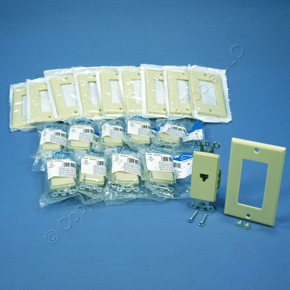 medium resolution of  shop 10 leviton ivory decora 8 wire phone jacks telephone modular outlet wall plate 40680 i fruit ridge tools