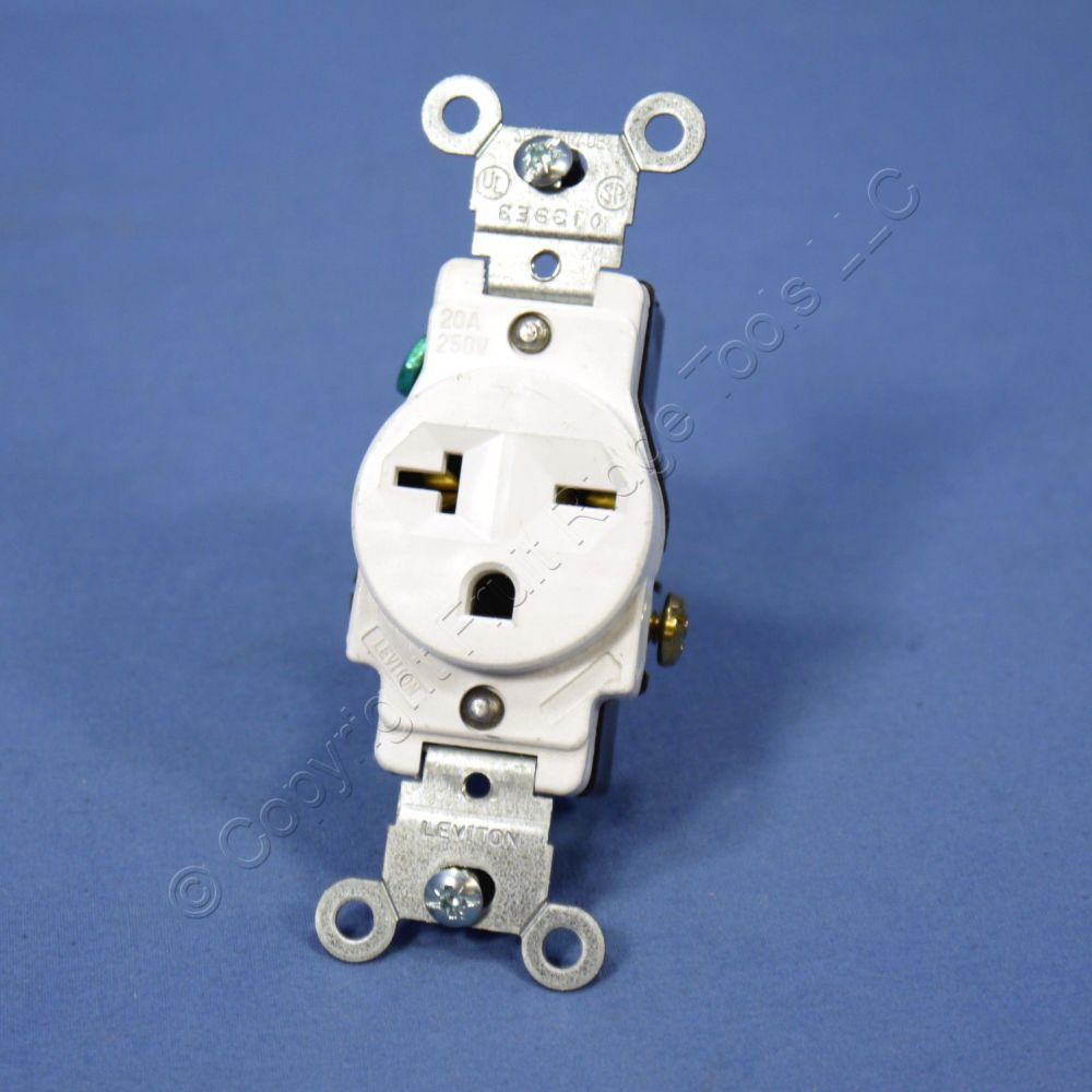 medium resolution of  shop leviton white 6 20 commercial single outlet receptacle nema 6 20r 20a 250v 5821 w bulk fruit ridge tools