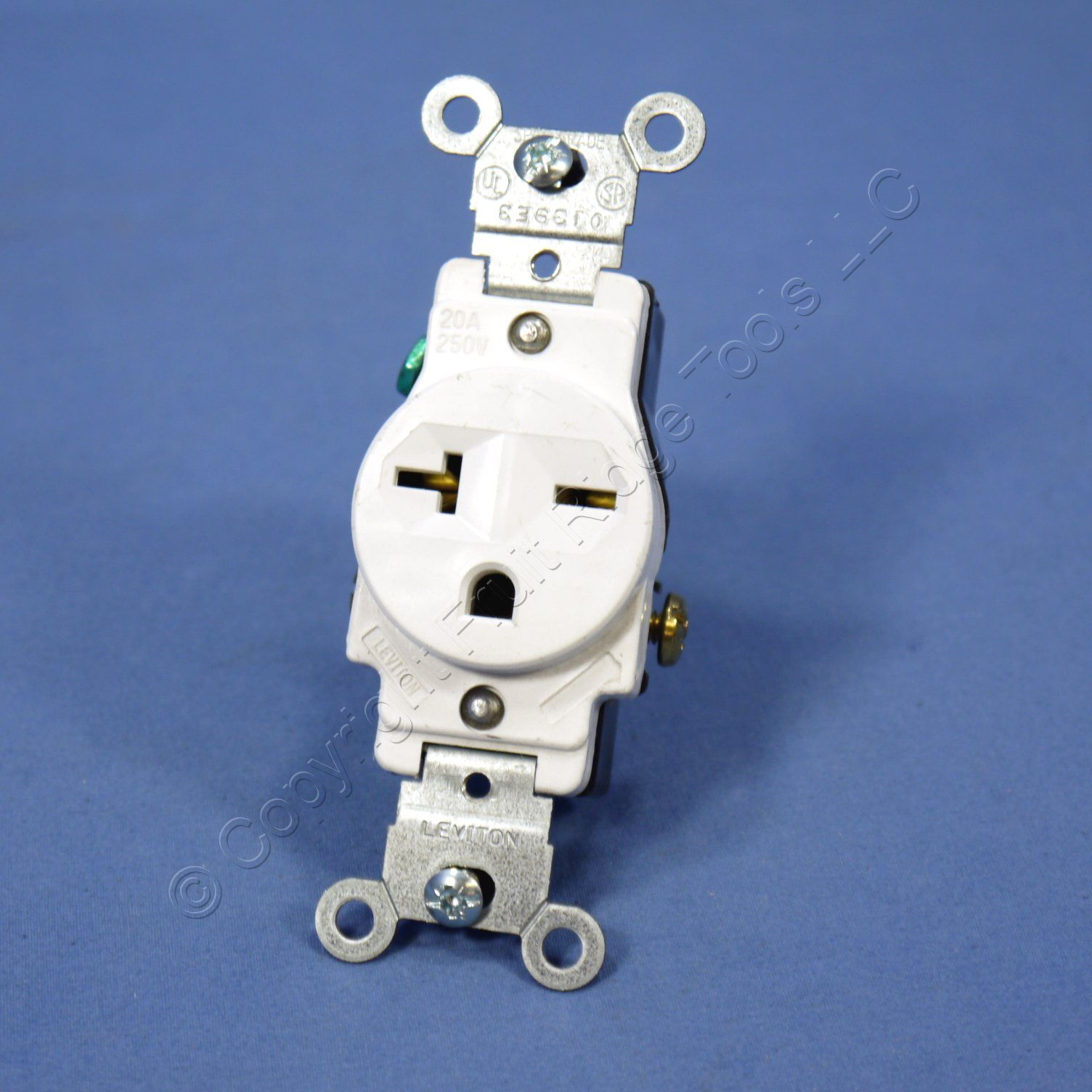 hight resolution of  shop leviton white 6 20 commercial single outlet receptacle nema 6 20r 20a 250v 5821 w bulk fruit ridge tools