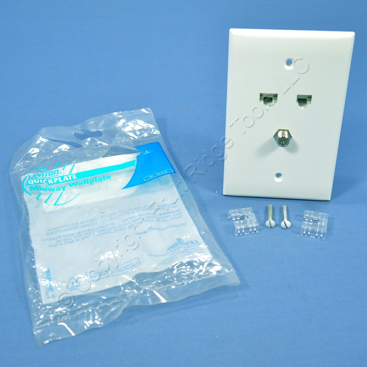 hight resolution of leviton large white video cable catv phone jack wallplate cat5e 6 wire 5ea10 m3w