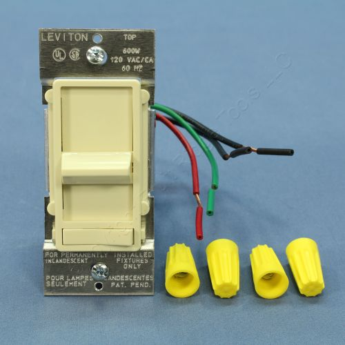 small resolution of new leviton almond decora lighted 3 way preset slide dimmer switch 600w 6633 pa
